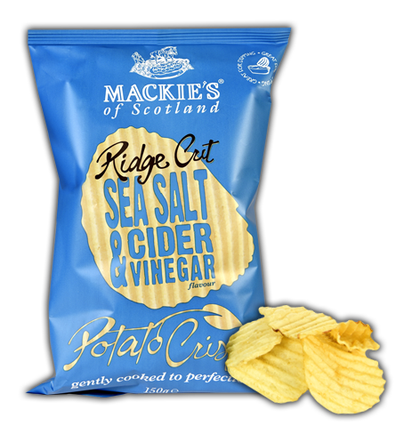 Sea Salt & Cider Vinegar Ridge Crisps