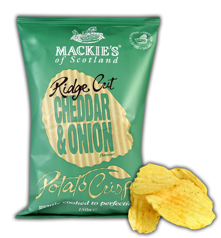 Cheddar & Onion Ridge Crisps